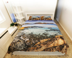 luckybay rocks and sea doona cover image