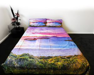 twilight cove sunset doona cover image