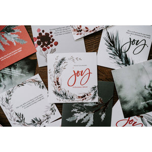 """Joy"" Advent Calendar Cards"