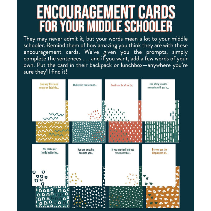 Encouragement Cards for Your Middle Schooler