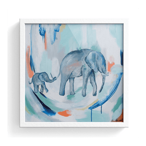 Mom And Elephant Print
