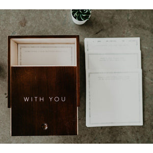 """With You"" Graduation Letter Box"