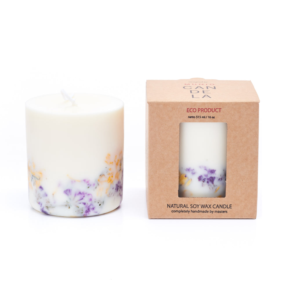 Wild Flowers with Rose Candle