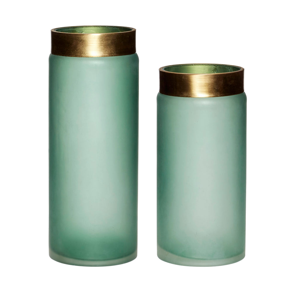 Green & Gold Vase Set