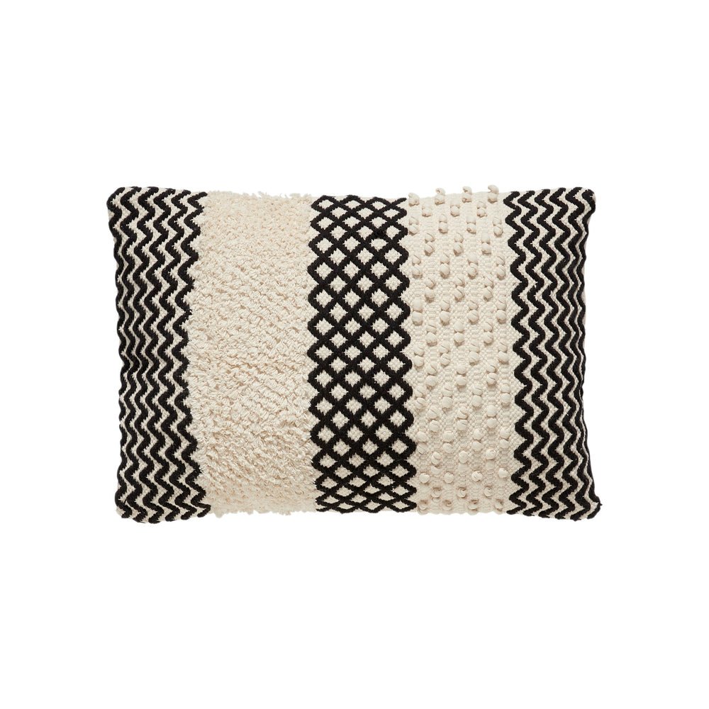 Monochrome Macramé Cushion