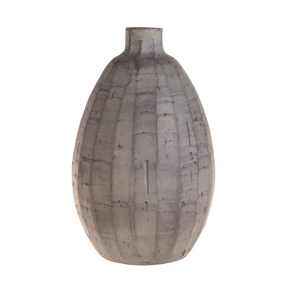 Terracotta Vase Dark Grey