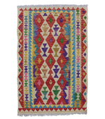 Ghazni natural-dye wool kilim traditional boho hand-weave rug