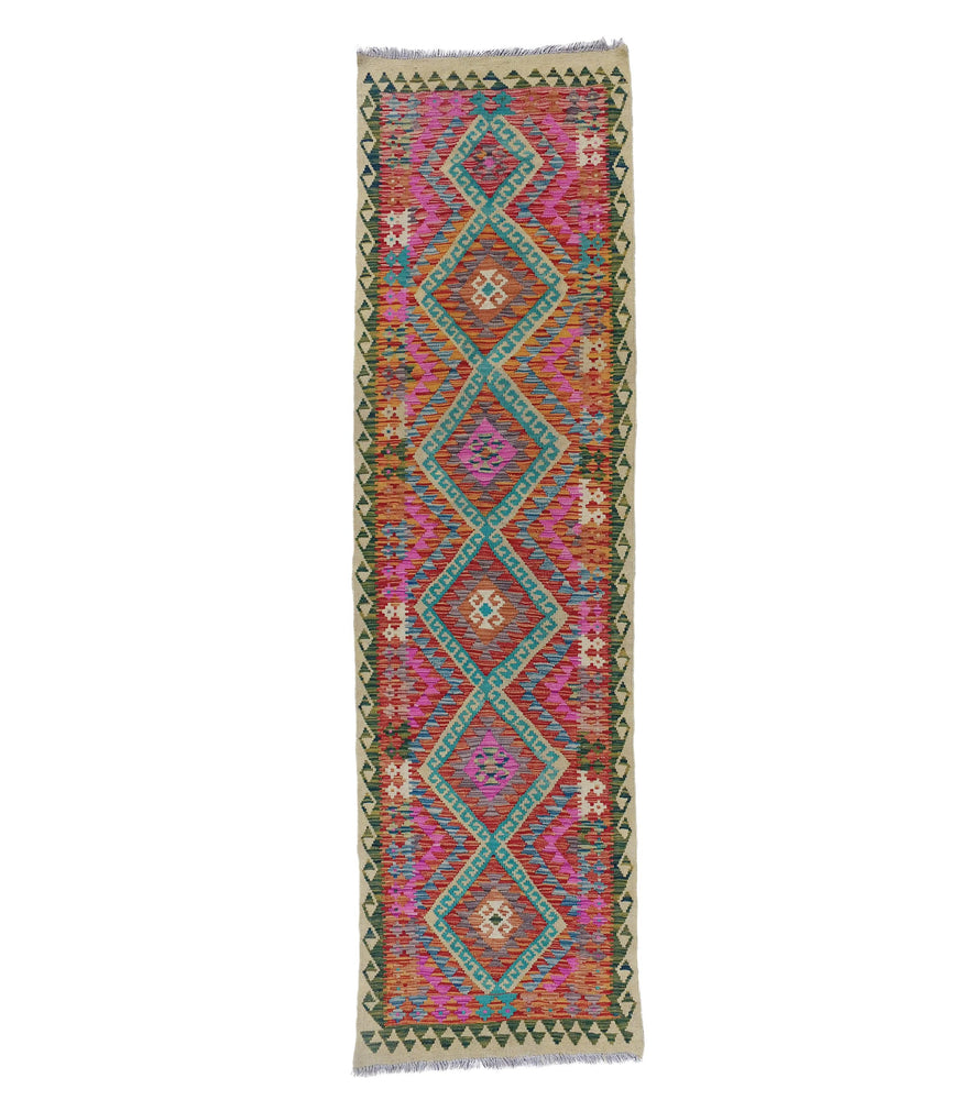 pink hand woven kilim contemporary flat weave rug