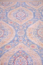 hand-knotted traditional print rug
