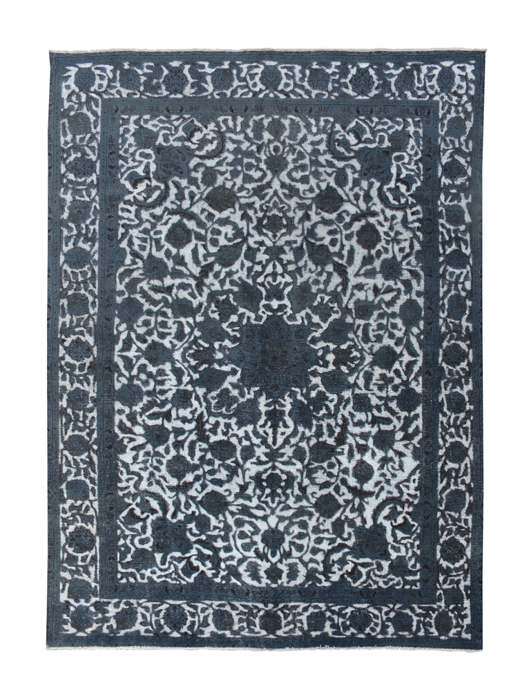 Vintage Persian natural over-dyed rug