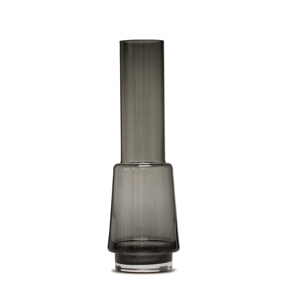 Smoked Grey Hurricane Vase