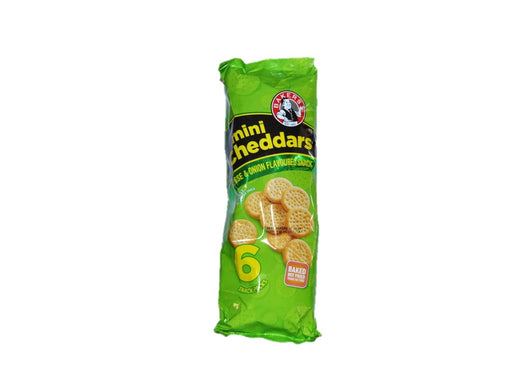Bakers Mini Cheddars Cheese & Onion 6 units 198g