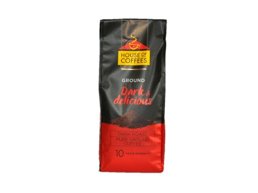 House of Coffees  Dark & Delicious Ground Coffee 250g
