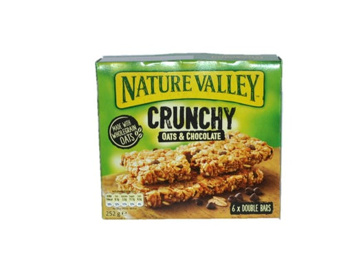 Nature Valley - Crunchy Oats & Chocolate Bars 6 Per Box 252g