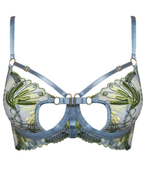 Bordelle Botanica Bodice Bra Dusty Blue