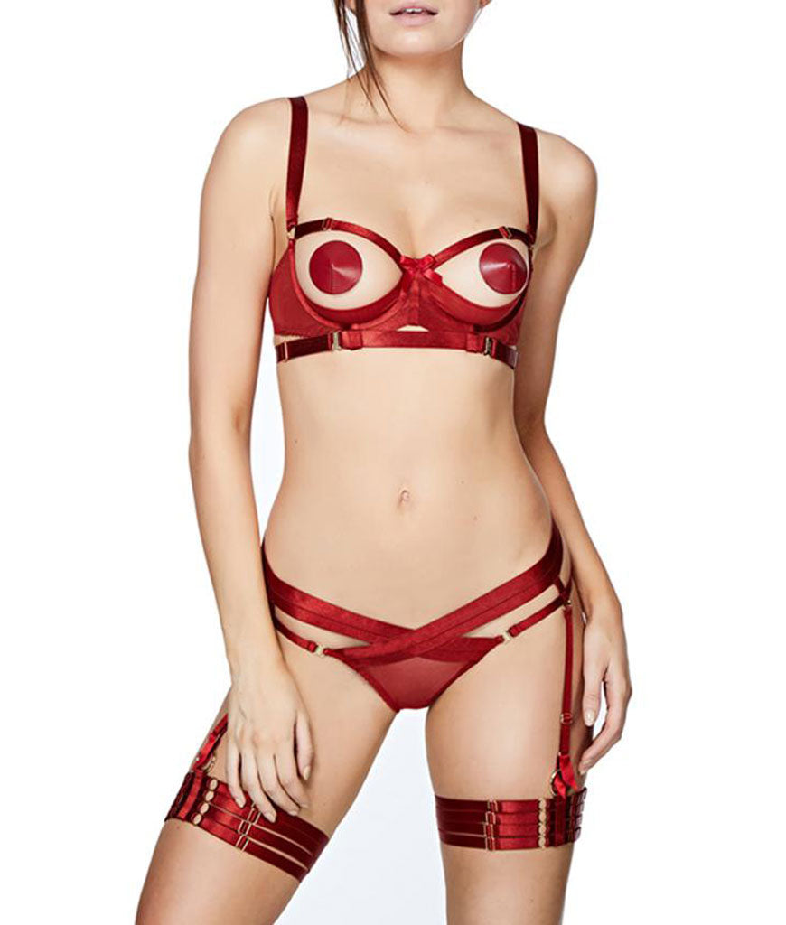 Bordelle Gia Shelf Bra Burnt Red