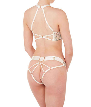 Bordelle Moa Open Back Brief Ivory