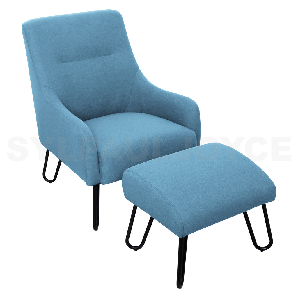 Diana Accent Chair with Stool