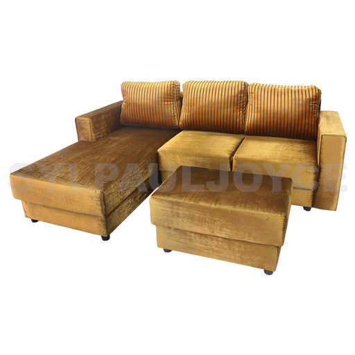 Margareth L-shape Sofa with Stool