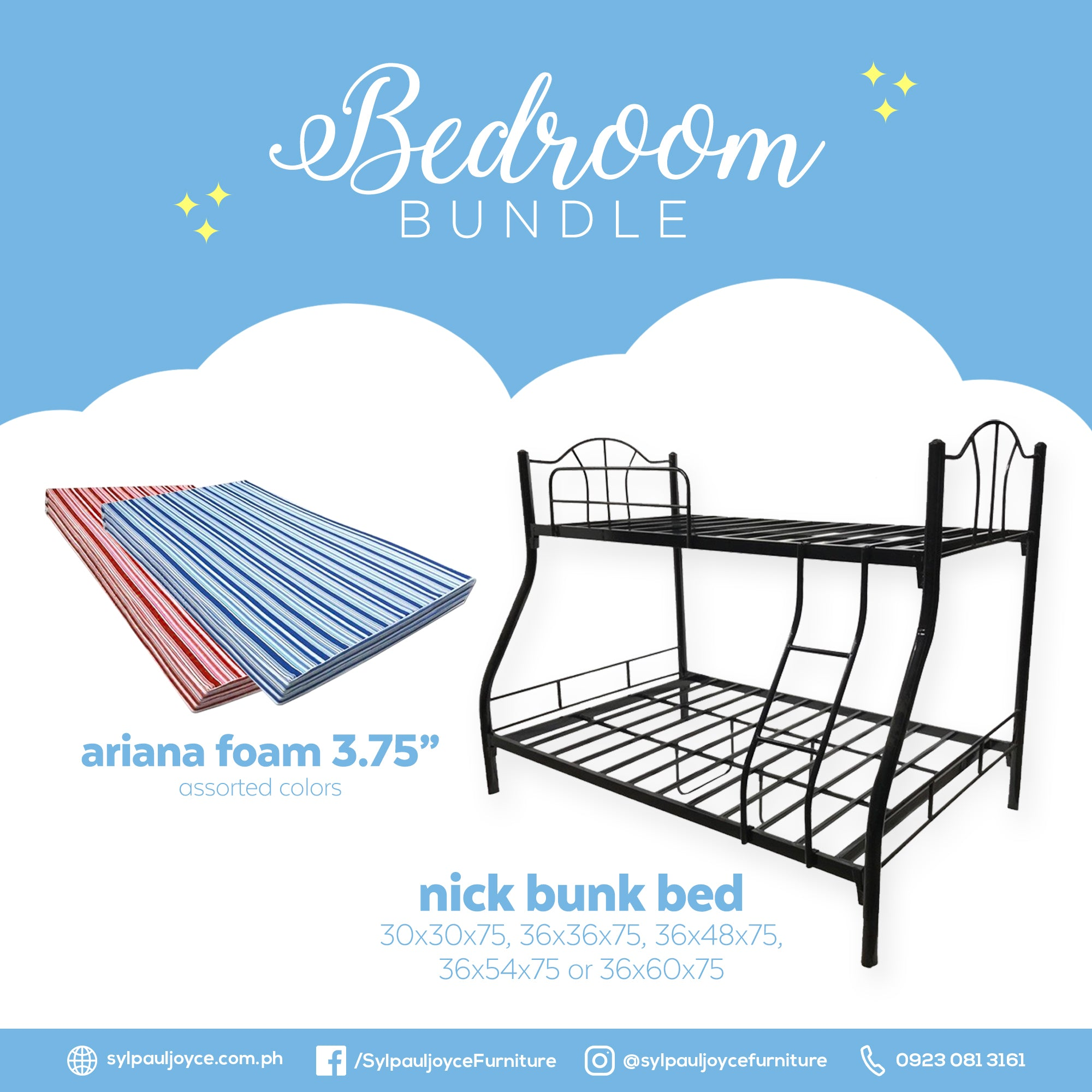 Nick Bunk Bed with Ariana Foam