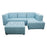 Novalyn L-shape Sofa with Stool