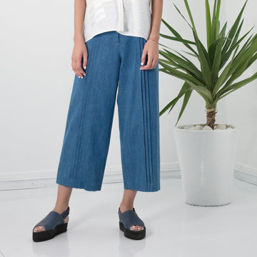 ANISSA AIDA | PLEATED DENIM CULOTTES