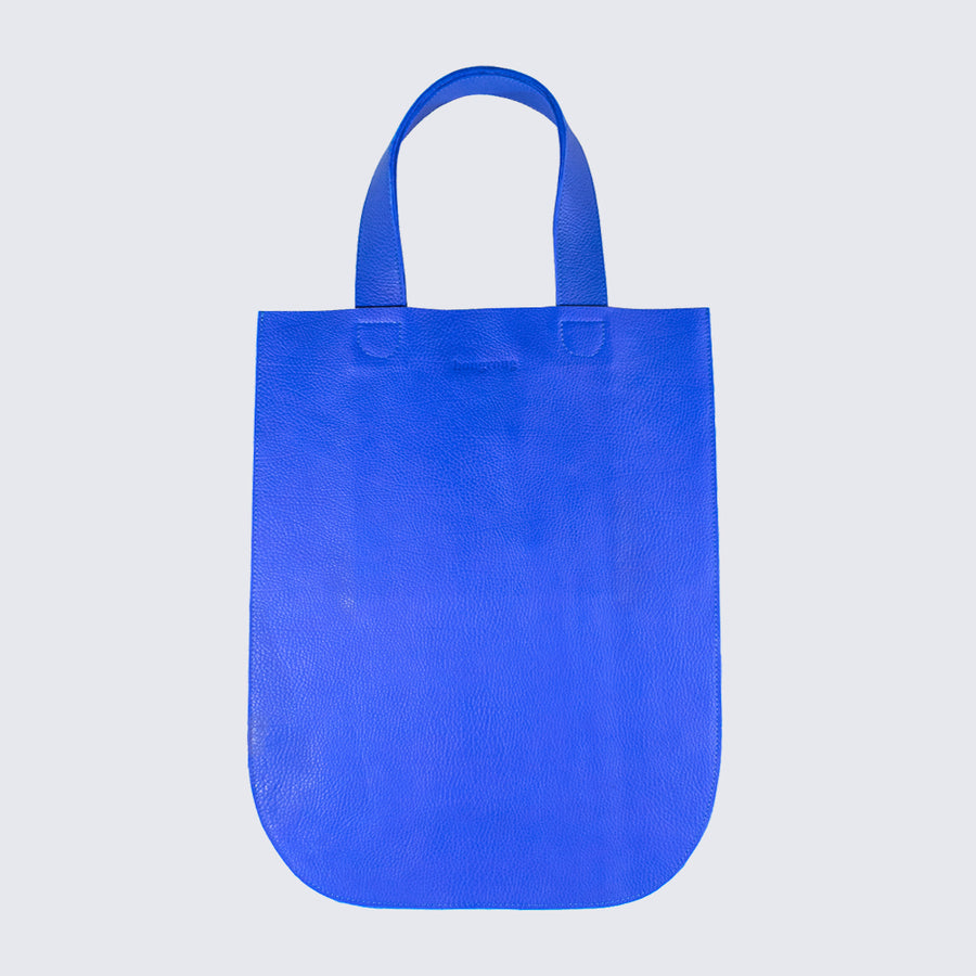 BOUGROUG_BLUE LEATHER TOTE BAG