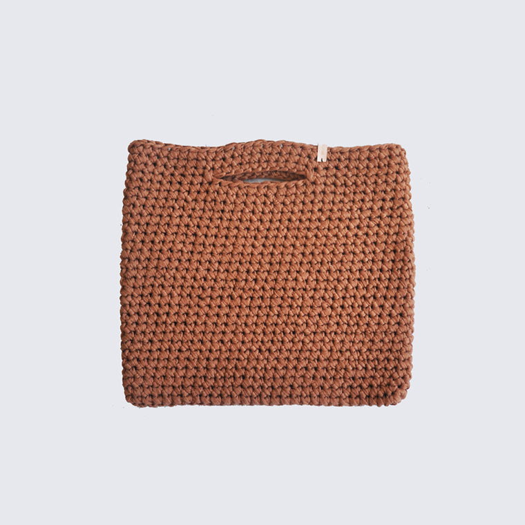 Sac maille camel