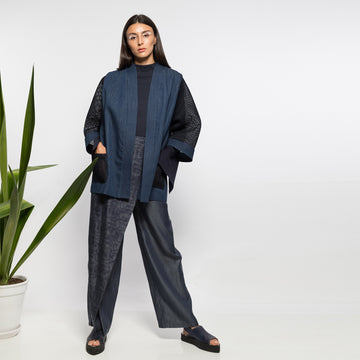 ANISSA AIDA | DENIM AND NEOPRENE JACKET