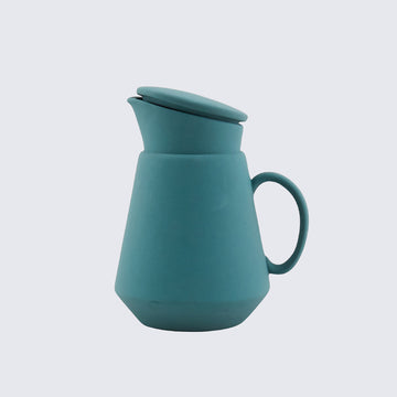 HEND KRICHEN | GREEN CERAMIC COFFEE JUG