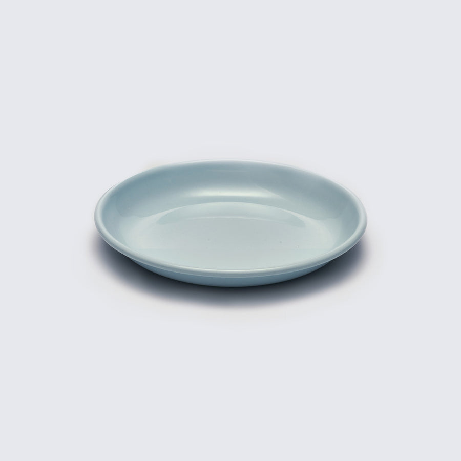 KAPKA | LIGHT BLUE ENAMELLED METAL PLATE