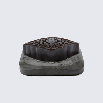 SENTEURS D'ORIENT | AMBER MA'AMOUL SOAP WITH MARBLE SOAP DISH