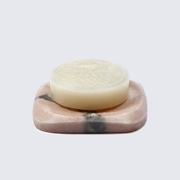 ROSE OF DAMASCUS MA'AMOUL SOAP WITH MARBLE SOAP DISH