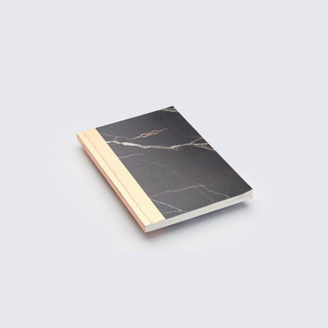 NYKS | BLACK AND GOLD MARBLE PRINT NOTEBOOK