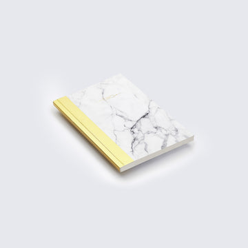 NYKS | WHITE AND GOLD MARBLE PRINT NOTEBOOK