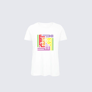 POTL | WOMAN T-SHIRT  - RAINBOW CALLIGRAFFITI BY RAMZ