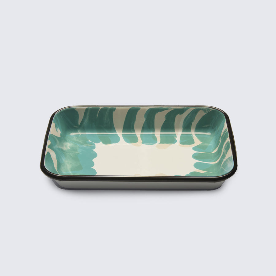 KAPKA | GREEN ENAMELLED METAL PLATE