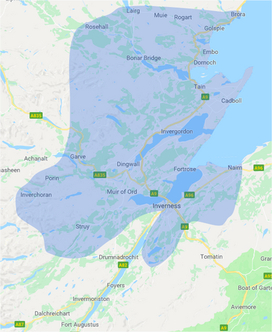 Invergordon Delivery Depot Map
