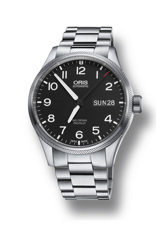 ORIS 01 752 7698 4164-07 8 22 19 Big Crown Propilot Big Day Date miesten automaattikello