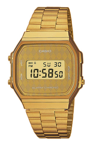 CASIO A168WG-9BWEF Retro digikello
