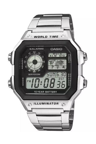 CASIO AE-1200WHD-1AVEF Retro World Time