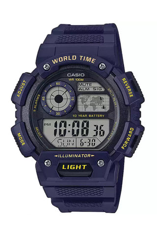 CASIO AE-1400WH-2AVEF World Time rannekello