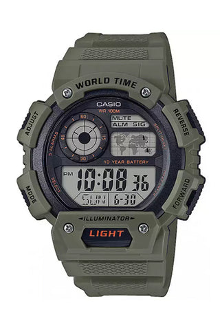 CASIO AE-1400WH-3AVEF World Time rannekello