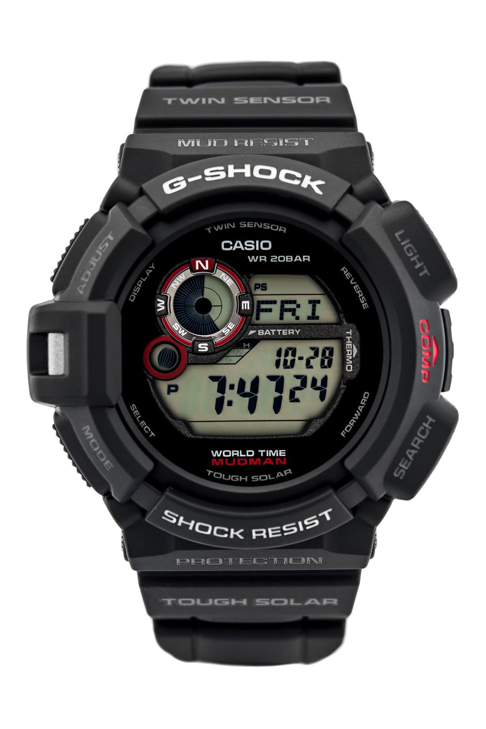 CASIO G-9300-1ER G-Shock Mudman digikello