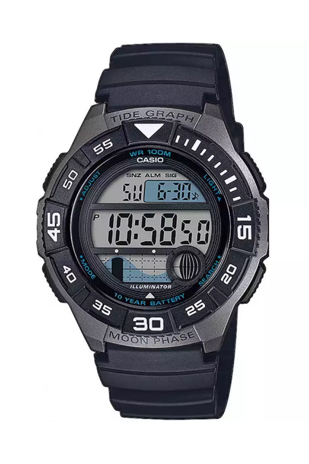 CASIO WS-1100H-1AVEF Marine Design for Men's rannekello