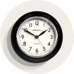NEWGATE COOK343K Cookhouse clock black seinäkello