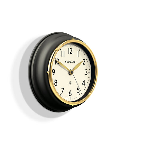 NEWGATE MCOOK397K Mini cookhouse II clock matte black seinäkello