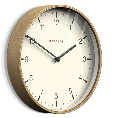 NEWGATE MRC159PLY53 Mr. Clarke XL clock pale wood seinäkello
