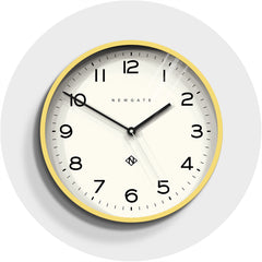 NEWGATE NUMTHR129CHY Number three echo clock yellow seinäkello