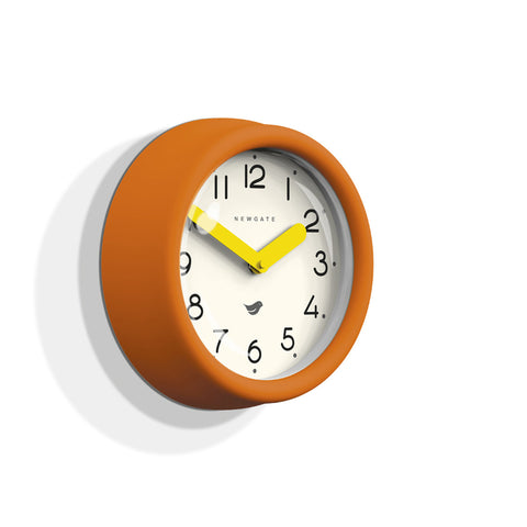 NEWGATE PANT241PO Pantry clock pumpkin orange seinäkello